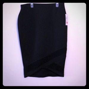 NWT Bisou Bisou scuba pencil skirt size Medium